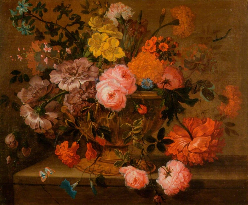 Flowers In A Vase Painting Jakob Bogdny Oil Paintings