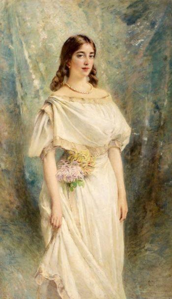 Portrait of the artists daughter Olga Makovsky   Konstantin Yegorovich Makovsky   Oil Painting