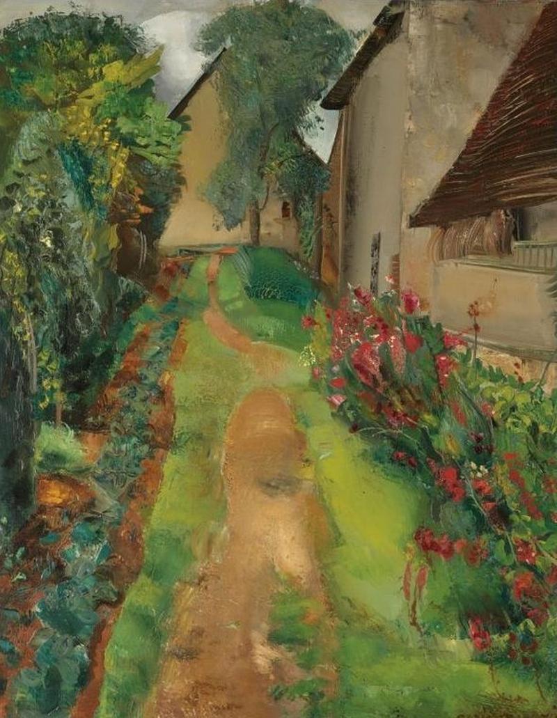 The Garden Path Painting | Boris Grigoriev Oil Paintings