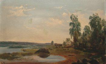 Landscape   Ivan Ivanovich Shishkin   Oil Painting