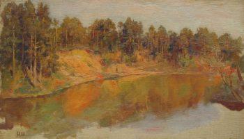 Forest Lake   Ivan Ivanovich Shishkin   Oil Painting