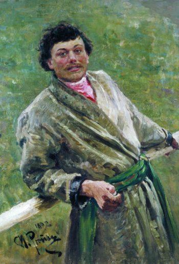 A Belarusian Man   Ilia Efimovich Repin   Oil Painting