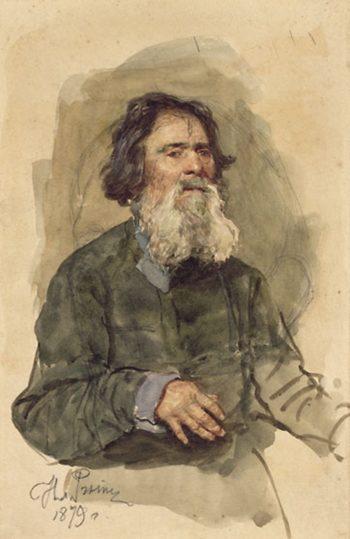 A Bearded Peasant   Ilia Efimovich Repin   Oil Painting