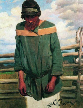 A Barge Hauler   Ilia Efimovich Repin   Oil Painting