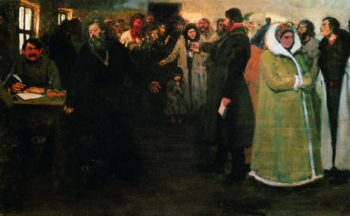 At the Local Adminsitration   Ilia Efimovich Repin   Oil Painting