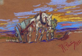 A Horse   Ilia Efimovich Repin   Oil Painting
