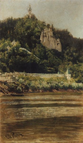 A View of the Svyatogorsk Assumption Monastery   Ilia Efimovich Repin   Oil Painting