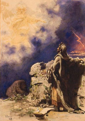 A Vision of Prophets Ezekiel   Ilia Efimovich Repin   Oil Painting