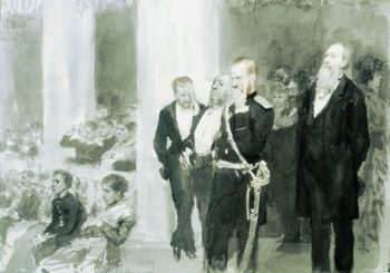 At the Concert   Ilia Efimovich Repin   Oil Painting
