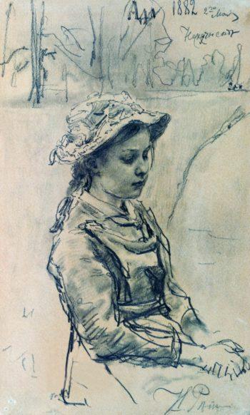 Ada   Ilia Efimovich Repin   Oil Painting