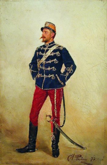 A Young Officer   Ilia Efimovich Repin   Oil Painting