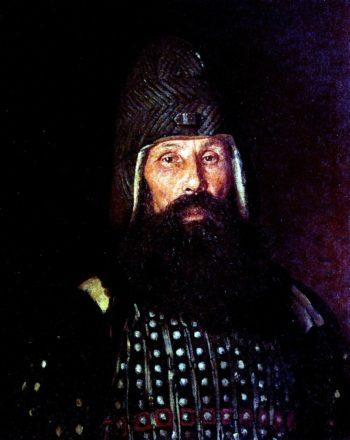 A Warrior of the XVII Century   Ilia Efimovich Repin   Oil Painting