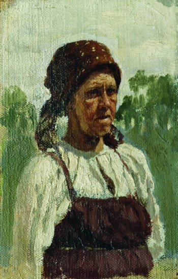 An Old Woman   Ilia Efimovich Repin   Oil Painting