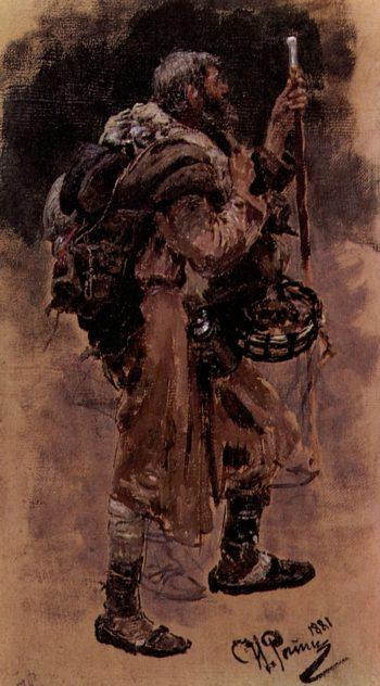 A Pilgrim   Ilia Efimovich Repin   Oil Painting