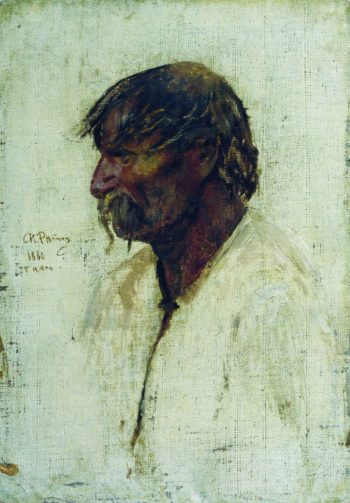 A Ukrainian Peasant   Ilia Efimovich Repin   Oil Painting