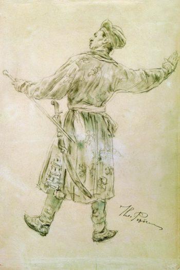 A Dancing Man   Ilia Efimovich Repin   Oil Painting