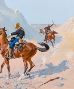 The Advance-Guard(also known as The Military Sacrifice (The Ambush))   Frederic Remington   Oil Painting