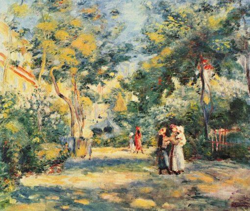 A Garden in Montmartre | Pierre Auguste Renoir | Oil Painting