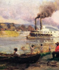Study for Steamboat on the Ohio | Thomas P. Anshutz | Oil Painting