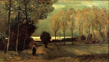 Autumn Landscape at Dusk | Vincent van Gogh | Oil Painting