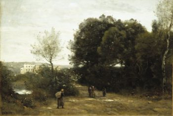 Landscape at Ville d'Avray | Jean Baptiste Camille Corot | Oil Painting