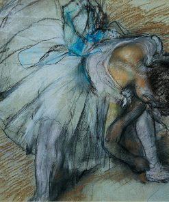 Adjusting her Shoe | Edgar Degas | Oil Painting
