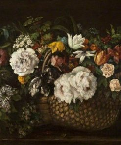 Basket of Flowers | Gustave Courbet | Oil Painting