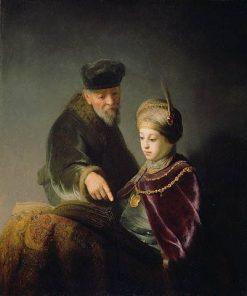 A Young Scholar and His Tutor (workshop) | Rembrandt van Rijn | Oil Painting