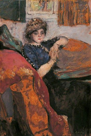 Mlle Nathanson in the Artist's Studio(also known as The Model on a Sofa) | Edouard Vuillard | Oil Painting