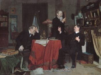 A Discussion | Louis Charles Moeller | Oil Painting