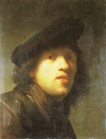 Copy after 'Study in the Mirror'   Rembrandt van Rijn   Oil Painting
