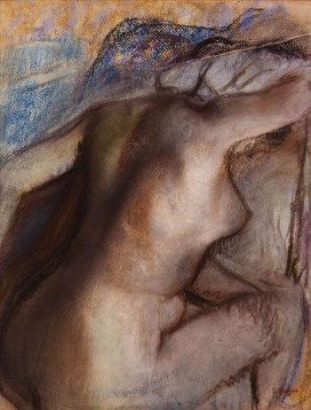 Apres le bain; femme s'essuyant (After the bath; Woman Drying Herself) | Edgar Degas | Oil Painting