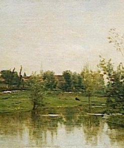 A Corner of Normandie   Charles Francois Daubigny   Oil Painting
