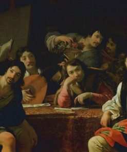 A Gathering of Friends   Eustache Le Sueur   Oil Painting