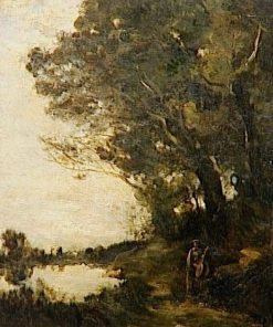 A Muse under the Trees | Jean Baptiste Camille Corot | Oil Painting