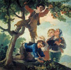 Boys Picking Fruit | Francisco de Goya y Lucientes | Oil Painting