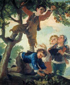 Boys Picking Fruit   Francisco de Goya y Lucientes   Oil Painting