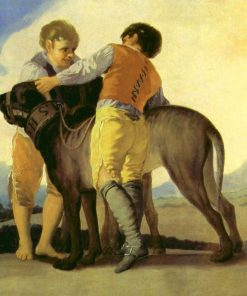 Boys with a mastiff   Francisco de Goya y Lucientes   Oil Painting