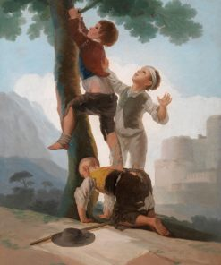 Boys Climbing a Tree   Francisco de Goya y Lucientes   Oil Painting