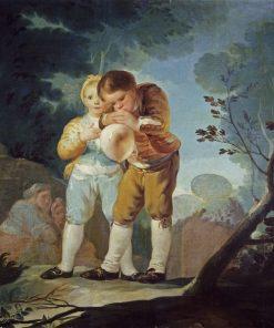 Children Blowing Balloons   Francisco de Goya y Lucientes   Oil Painting