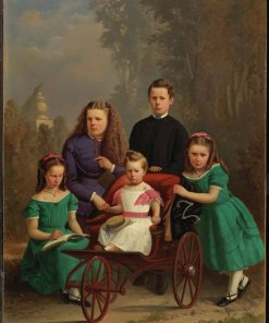 The McFarlane Children   William Raphael   Oil Painting