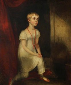Horatia Nelson Kneeling before her Father's Tomb   William Owen   Oil Painting