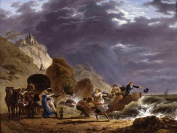 Arrival of Emigres with the Duchess of Berry on the French Coast | Carle Vernet | Oil Painting