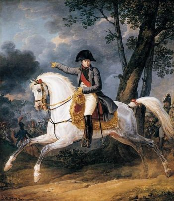 Equestrian Portrait of of Emperor Napoleon I | Carle Vernet | Oil Painting