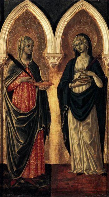 Saints Agatha and Lucy | Guidoccio Cozzarelli | Oil Painting