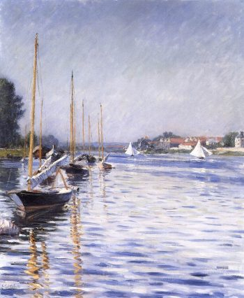 Boats on the Seine at Argenteuil | Gustave Caillebotte | Oil Painting