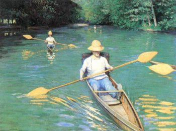 Canoeing on the Yerres | Gustave Caillebotte | Oil Painting