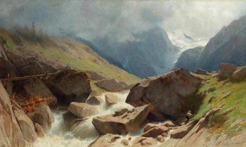 Paysage de montagnes vers Arolla | Gustave Castan | Oil Painting