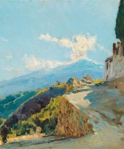 Mt. Etna | Max Friedrich Ferdinand Rabes | Oil Painting