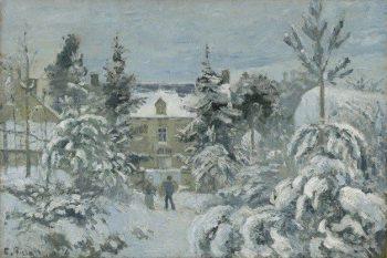 Piette's House at Montfoucault | Camille Pissarro | Oil Painting